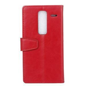Sitt PU kožené pouzdro na mobil LG Zero - červené - 2