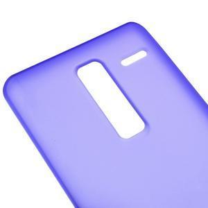 Matný gelový obal na mobil LG Zero - fialový - 2