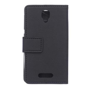 Wallet pouzdro na mobil Lenovo A1000 - černé - 2