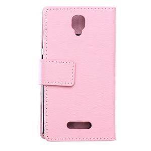 Wallet pouzdro na mobil Lenovo A1000 - růžové - 2