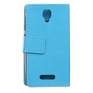 Wallet pouzdro na mobil Lenovo A1000 - modré - 2