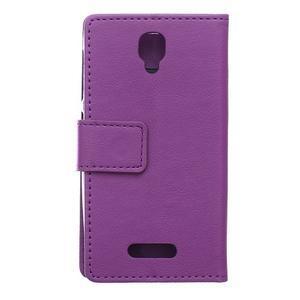 Wallet pouzdro na mobil Lenovo A1000 - fialové - 2