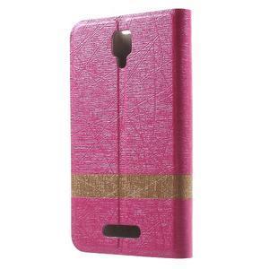 Klopové pouzdro na mobil Lenovo A1000 - rose - 2