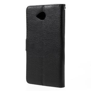 Funny peněženkové pouzdro na mobil Microsoft Lumia 650 - černé - 2