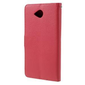 Funny peněženkové pouzdro na mobil Microsoft Lumia 650 - červené - 2