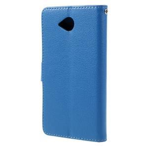 Funny peněženkové pouzdro na mobil Microsoft Lumia 650 - modré - 2