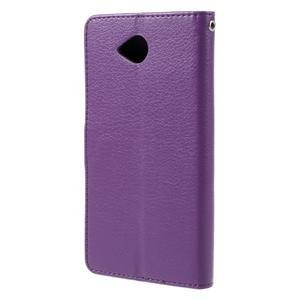 Funny peněženkové pouzdro na mobil Microsoft Lumia 650 - fialové - 2