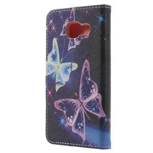 Peněženkové pouzdro na mobil Samsung Galaxy A3 (2016) - kouzelní motýlci - 2