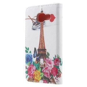 Peněženkové pouzdro na mobil Samsung Galaxy A3 (2016) - Eiffelova věž - 2