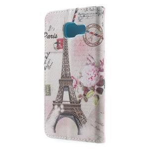 Peněženkové pouzdro na mobil Samsung Galaxy A3 (2016) - Eiffelovka - 2
