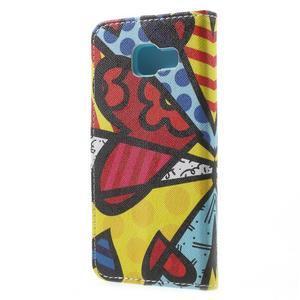 Peněženkové pouzdro na mobil Samsung Galaxy A3 (2016) - barevný motýl - 2