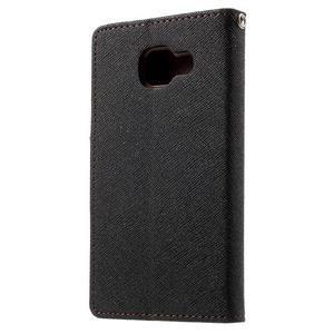 Goospery peněženkové pouzdro na Samsung Galaxy A3 (2016) - černé/hnědé - 2
