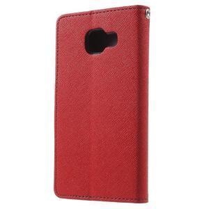 Goospery peněženkové pouzdro na Samsung Galaxy A3 (2016) - červené - 2