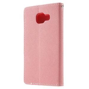Goospery peněženkové pouzdro na Samsung Galaxy A3 (2016) - růžové - 2