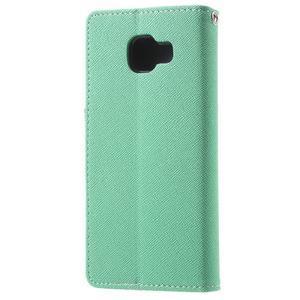 Goospery peněženkové pouzdro na Samsung Galaxy A3 (2016) - cyan - 2