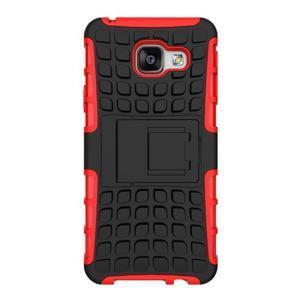 Outdoor odolný kryt na mobil Samsung Galaxy A3 (2016) - červený - 2