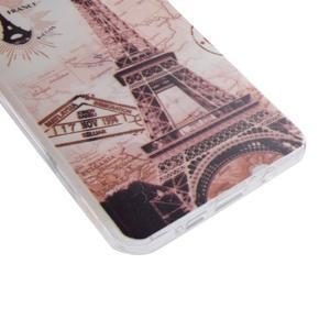 Ultratenký gelový obal na mobil Samsung Galaxy A3 (2016) - Eiffelova věž - 2