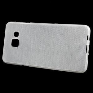 Gelový obal s motivem broušení na Samsung Galaxy A3 (2016) - bílý - 2
