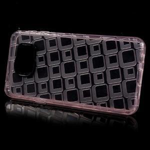 Square gelový obal na mobil Samsung Galaxy A3 (2016) - růžový - 2