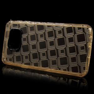 Square gelový obal na mobil Samsung Galaxy A3 (2016) - zlatý - 2