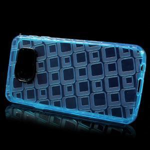 Square gelový obal na mobil Samsung Galaxy A3 (2016) - modrý - 2