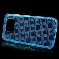 Square gelový obal na mobil Samsung Galaxy A3 (2016) - modrý - 2/5