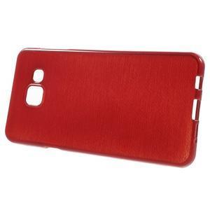 Gelový obal s motivem broušení na Samsung Galaxy A3 (2016) - červený - 2