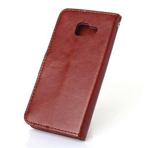 Wallet pouzdro na mobil Samsung Galaxy A3 (2016) - hnědé - 2