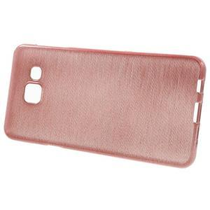 Gelový obal s motivem broušení na Samsung Galaxy A3 (2016) - růžový - 2