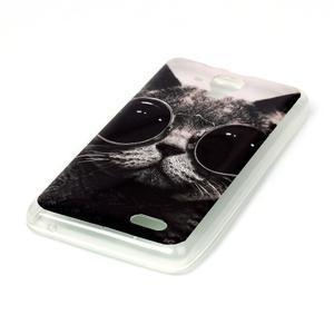 Gelový obal na mobil Lenovo A536 - kočka mafián - 2