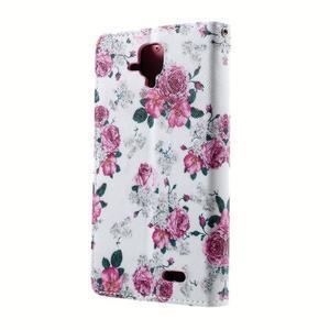 Peněženkové pouzdro na mobil Lenovo A536 - květiny - 2