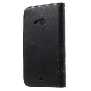 Butterfly peněženkové pouzdro na Microsoft Lumia 535 - černé - 2