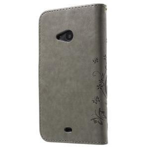 Butterfly peněženkové pouzdro na Microsoft Lumia 535 - šedé - 2
