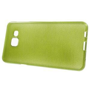 Gelový obal s motivem broušení na Samsung Galaxy A3 (2016) - zelený - 2