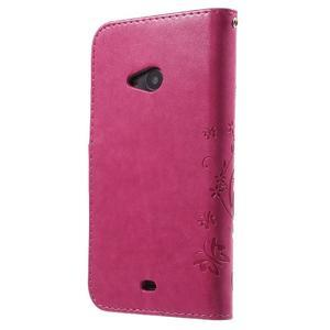 Butterfly peněženkové pouzdro na Microsoft Lumia 535 - rose - 2