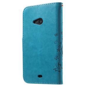 Butterfly peněženkové pouzdro na Microsoft Lumia 535 - modré - 2