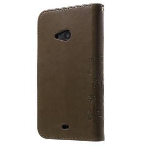 Butterfly peněženkové pouzdro na Microsoft Lumia 535 - coffee - 2