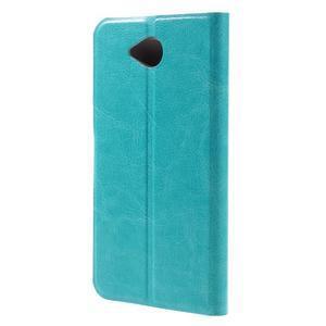 Horse peněženkové pouzdro na mobil Microsoft Lumia 650 - modré - 2