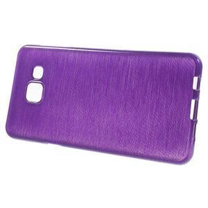 Gelový obal s motivem broušení na Samsung Galaxy A3 (2016) - fialový - 2