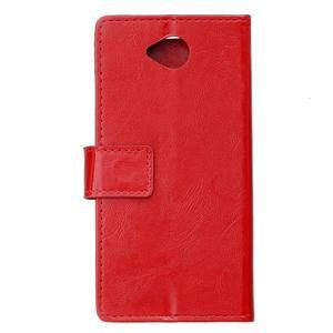 Fold peněženkové pouzdro na Microsoft Lumia 650 - červené - 2
