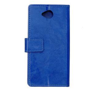 Fold peněženkové pouzdro na Microsoft Lumia 650 - modré - 2