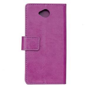 Fold peněženkové pouzdro na Microsoft Lumia 650 - fialové - 2