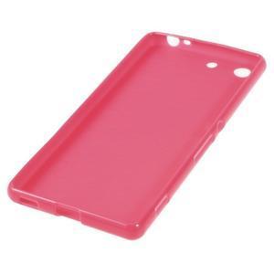Lesklý gelový obal na mobil Sony Xperia M5 - rose - 2