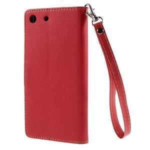 Blade peněženkové pouzdro na Sony Xperia M5 - červené - 2