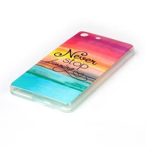 Style gelový obal pro Sony Xperia M5 - nepřestávej snít - 2