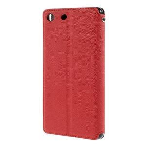 Diary pouzdro s okýnkem na Sony Xperia M5 - červené - 2