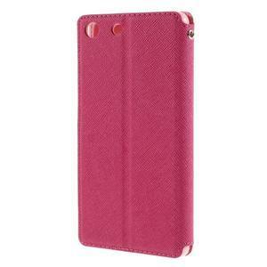 Diary pouzdro s okýnkem na Sony Xperia M5 - rose - 2