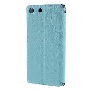 Diary pouzdro s okýnkem na Sony Xperia M5 - světlemodré - 2