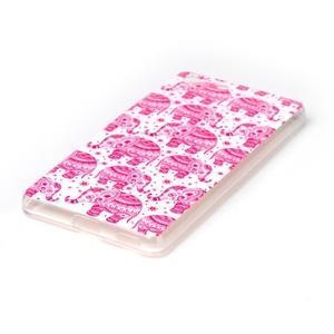 Style gelový obal pro Sony Xperia M5 - růžoví sloni - 2