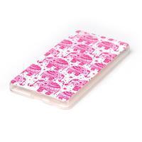 Style gelový obal pro Sony Xperia M5 - růžoví sloni - 2/3
